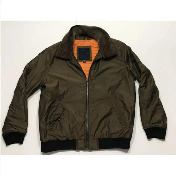 NEW TOMMY HILFIGER Men/'s Black//Gray Hooded Bomber Jacket Large 2XL